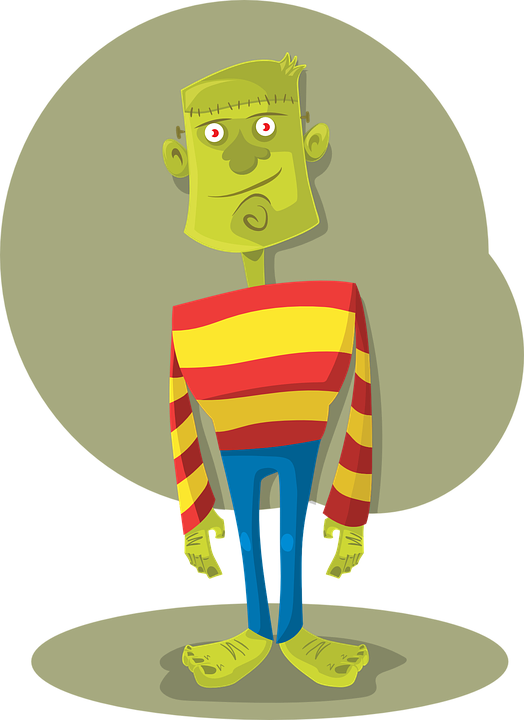 Frankenstein clipart modern. Friday the mailbox blog