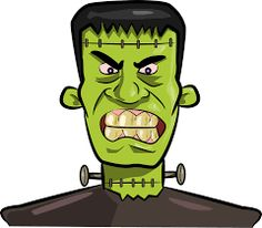 Frankenstein clipart modern. Monster face pinterest cartoon