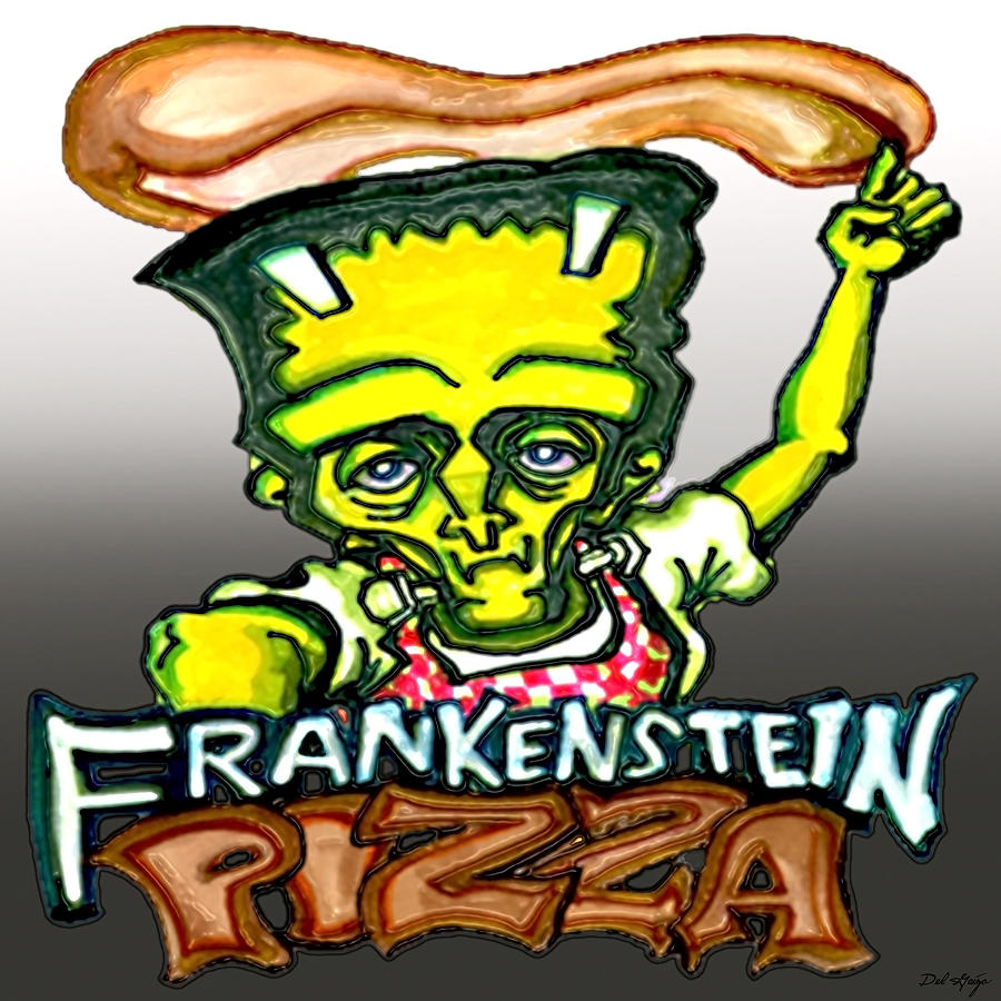Frankenstein clipart modern. Pizza or the prometheus