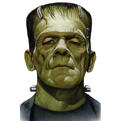 Frankenstein head png. Transparent images stickpng face