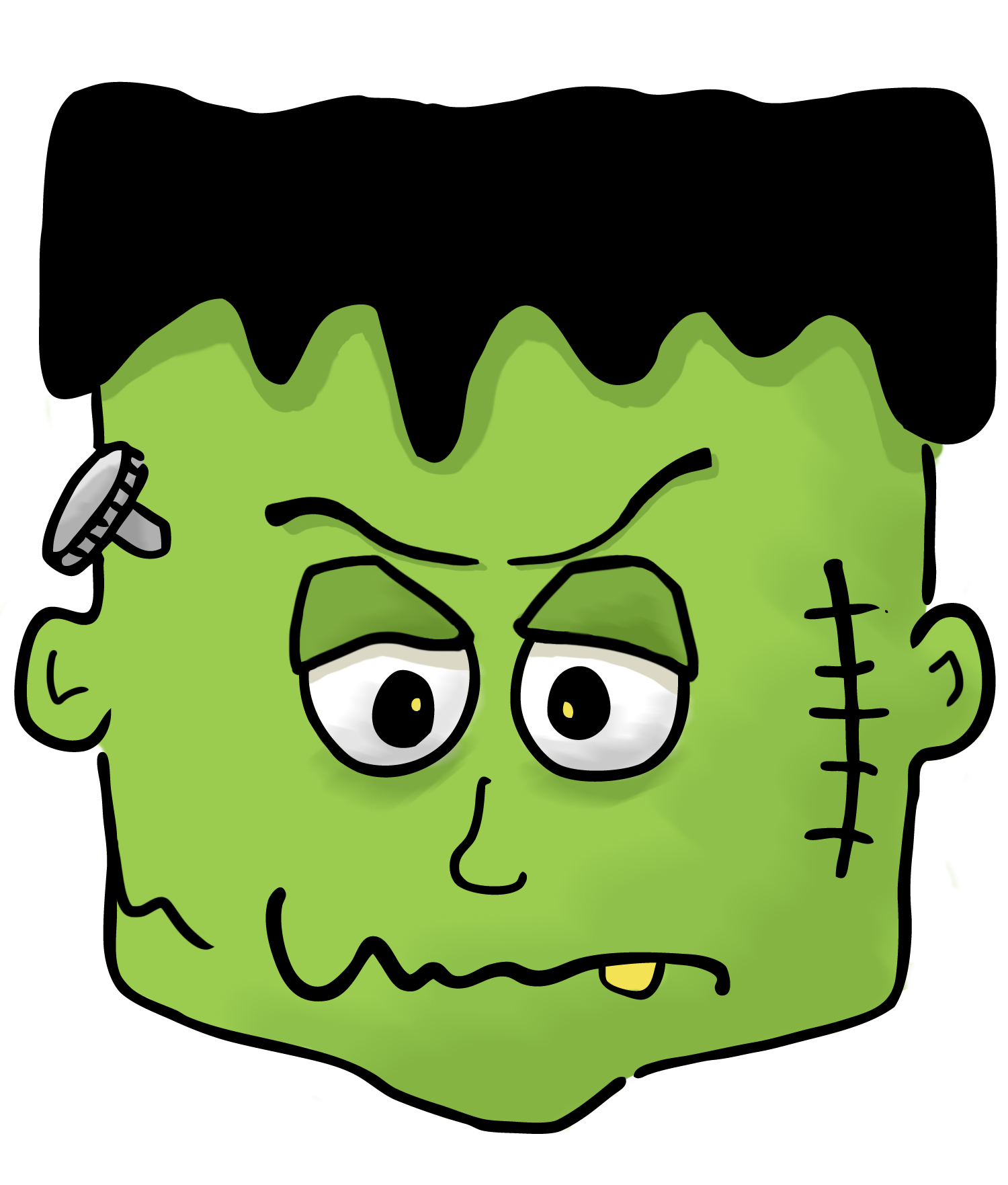 Stitches vector frankenstein. Halloween clipart kid