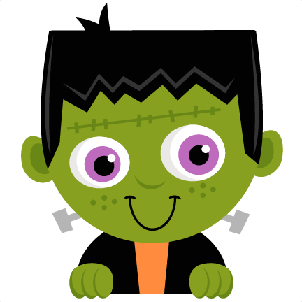 Frankenstein transparent little. Peeking svg scrapbook title