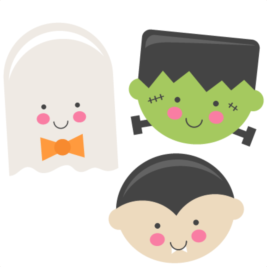 Frankenstein transparent monster mash. Cute halloween clip art