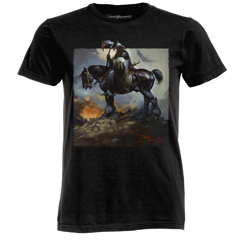 Frazetta drawing lord. T shirts art museum