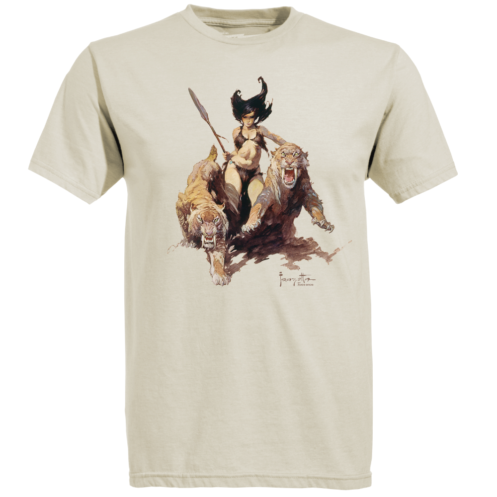 Frazetta drawing woman. The huntress by ames