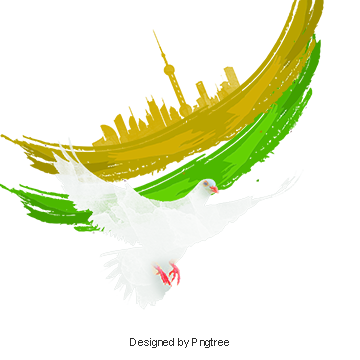 Vector doves cross. Independence day png vectors
