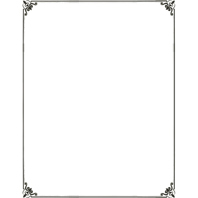 Simple frame png. Art deco border transparent