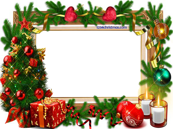 Christmas photo frame png. Templates for free download