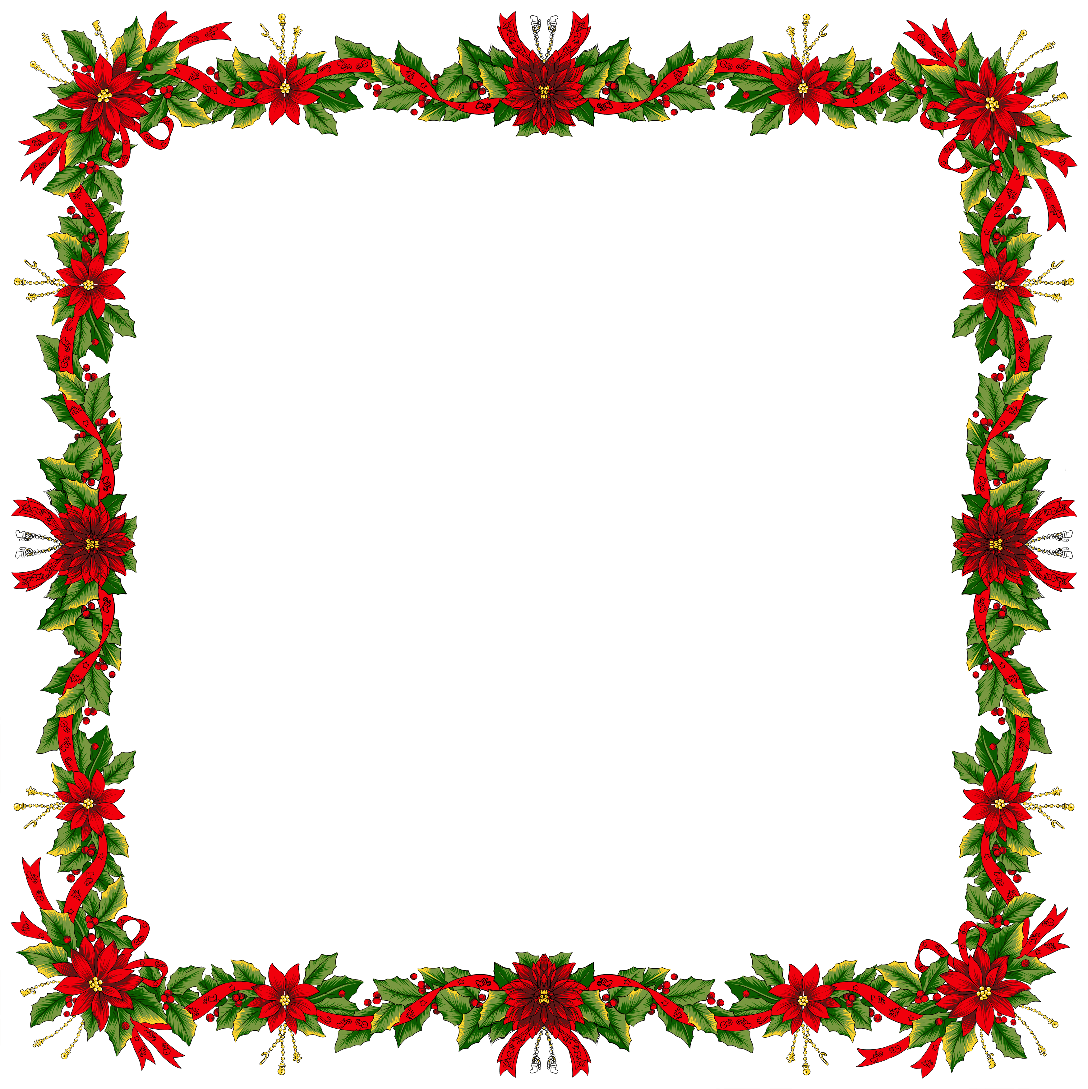 Large transparent png photo. Christmas borders .png jpg library stock