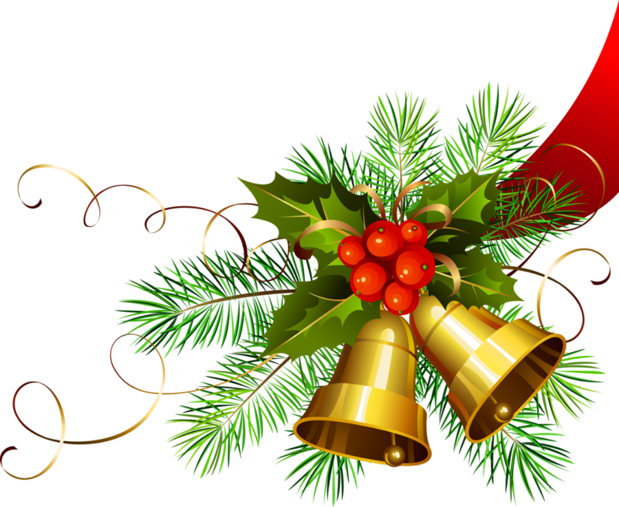 Free christmas png. Transparent gold bells gallery