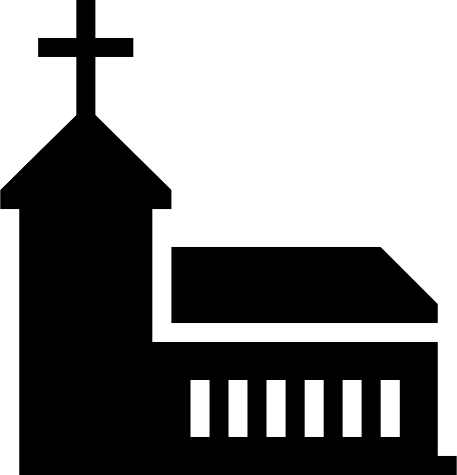 Church svg icon. Temple christianity png free