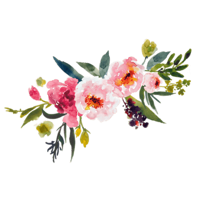 wildflower vector watercolor floral border
