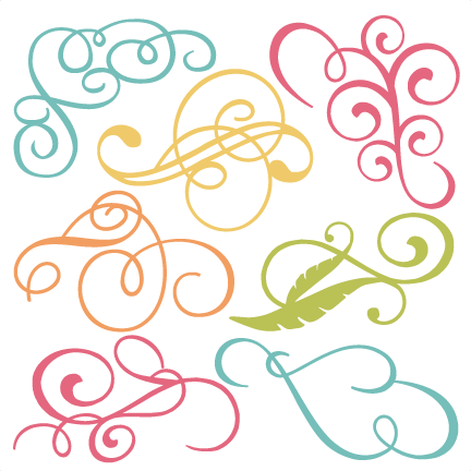 Free flourish png. Flourishes svg cut files
