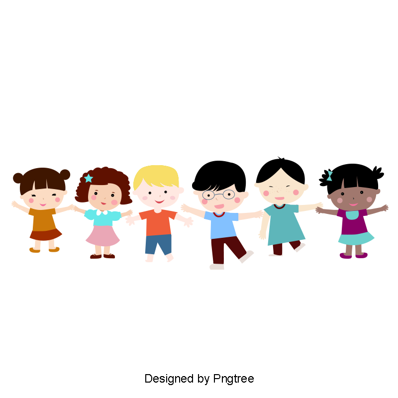 Children png clipart. Cartoon cute holding hands