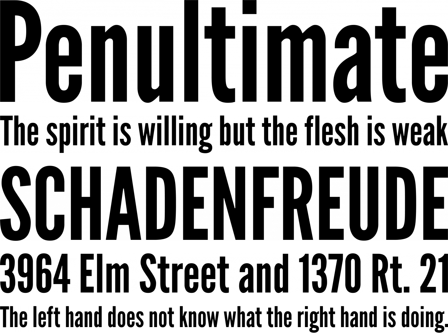 Vector underline gothic. League font free by