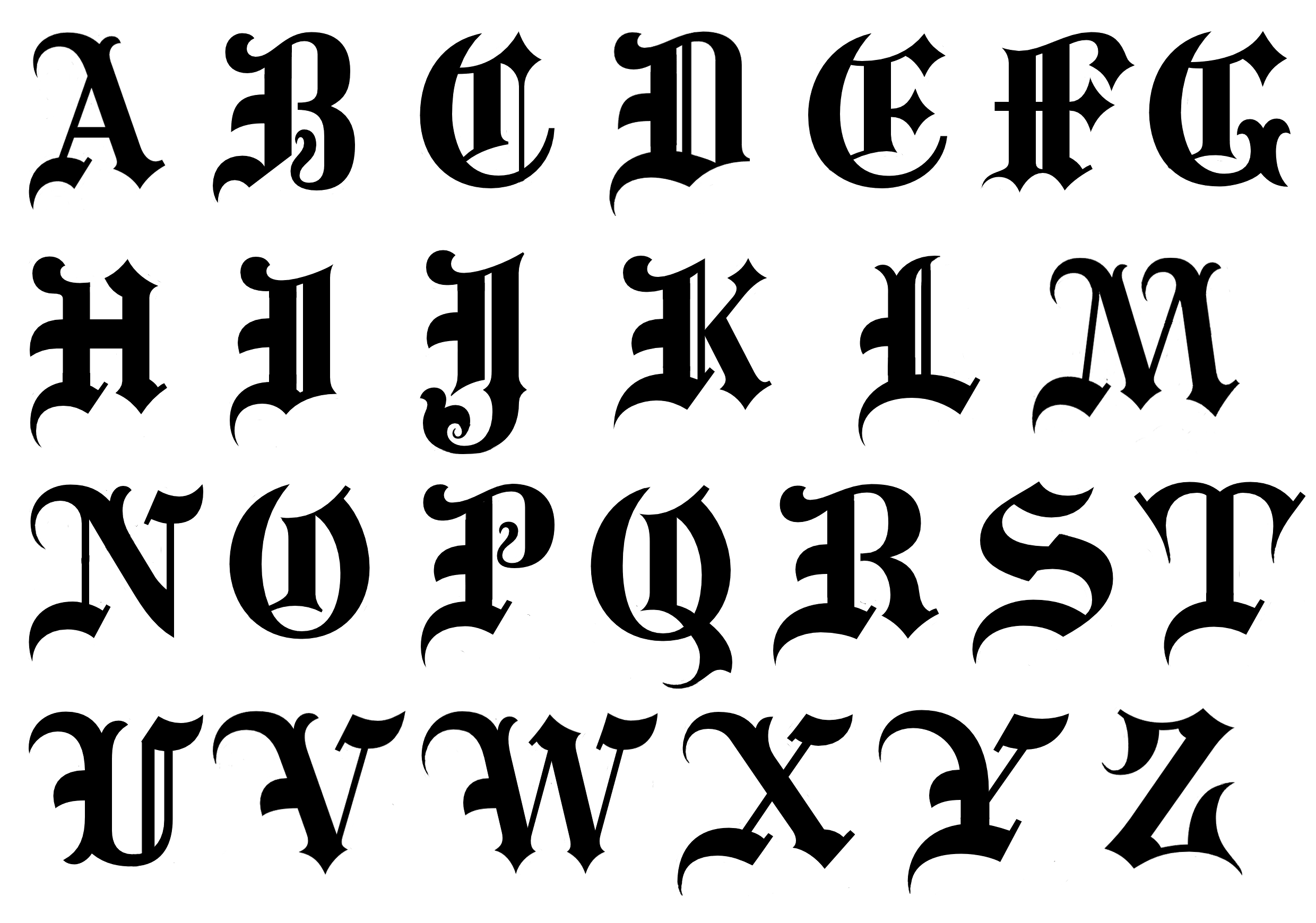 fonts drawing