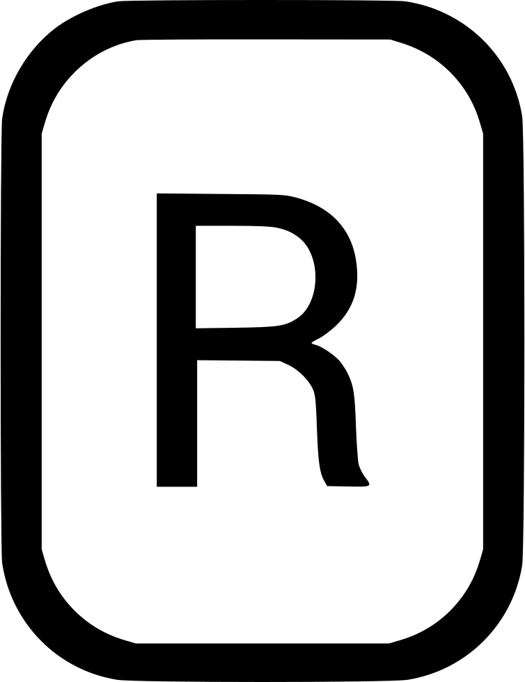 Fancy r letter png. Uppercase latin alphabet svg