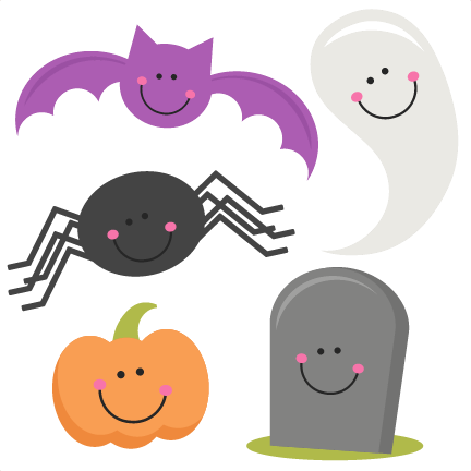 Free halloween png files. Set svg scrapbook title