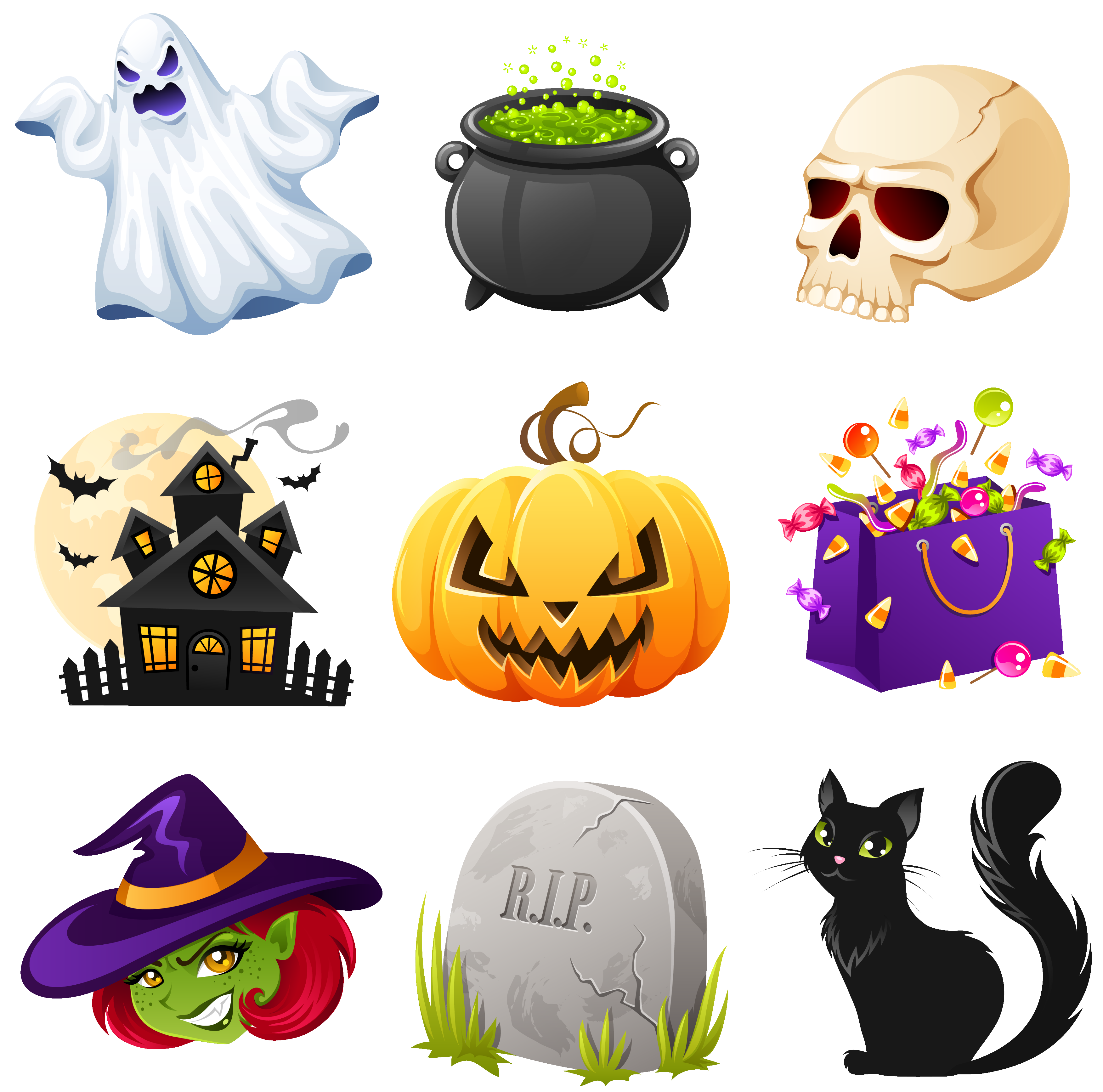 Free halloween png files. Creepy clipart pictures collection