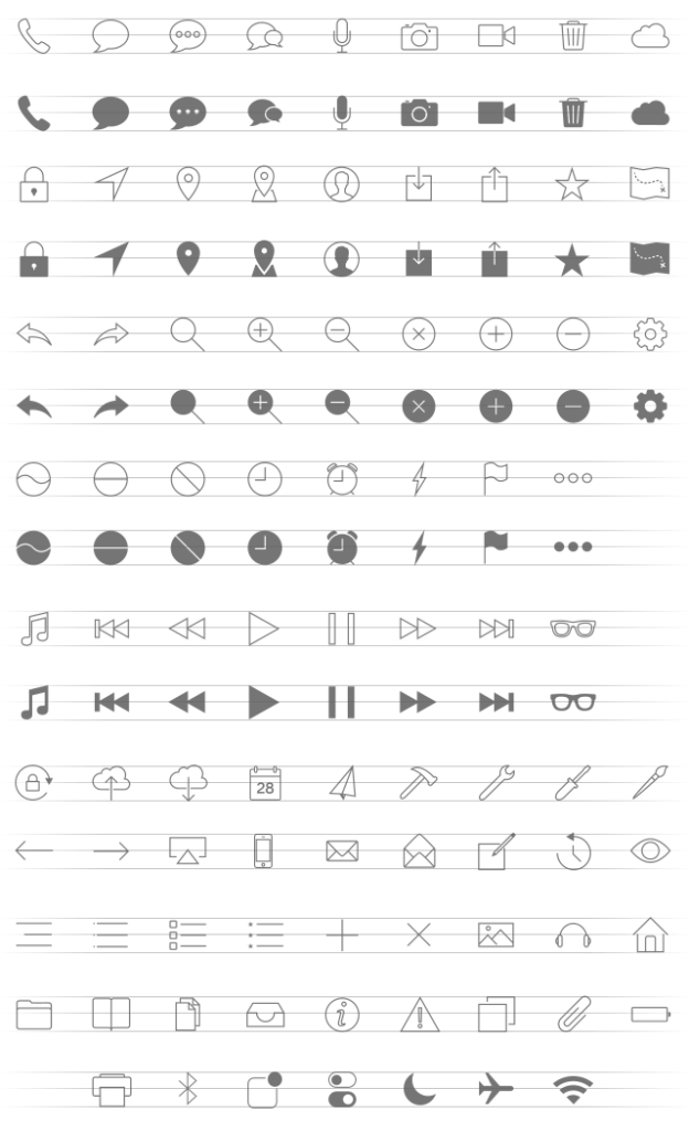 Free icons set png. Mobile icon sets