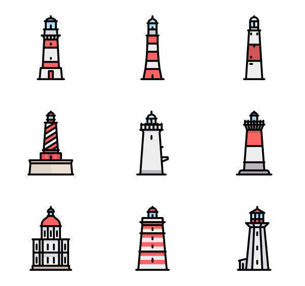 Light house png. Lighthouse icons free vector