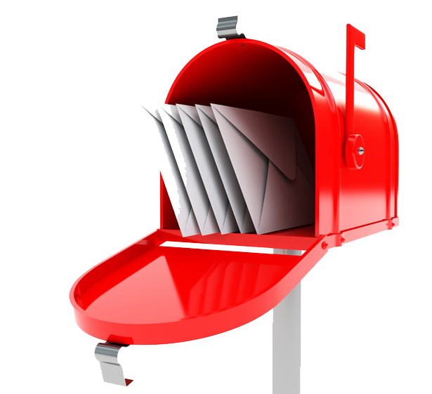 Red mailbox on post png. Transparent images all free