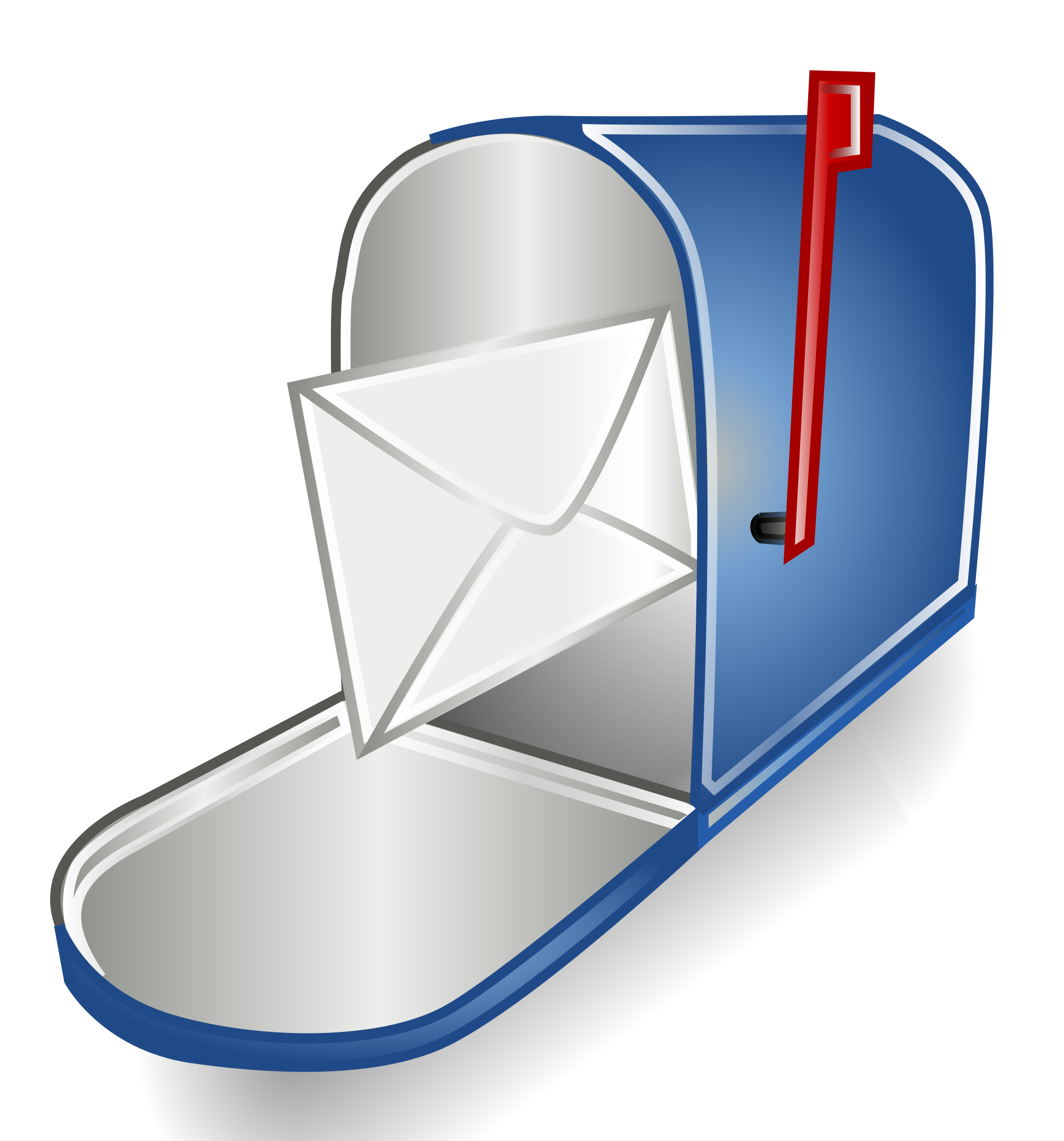 Open mailbox png