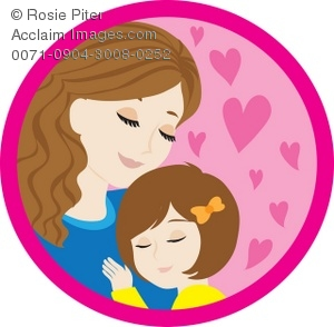Mother clipart. And daughter hugging sharing graphic free stock