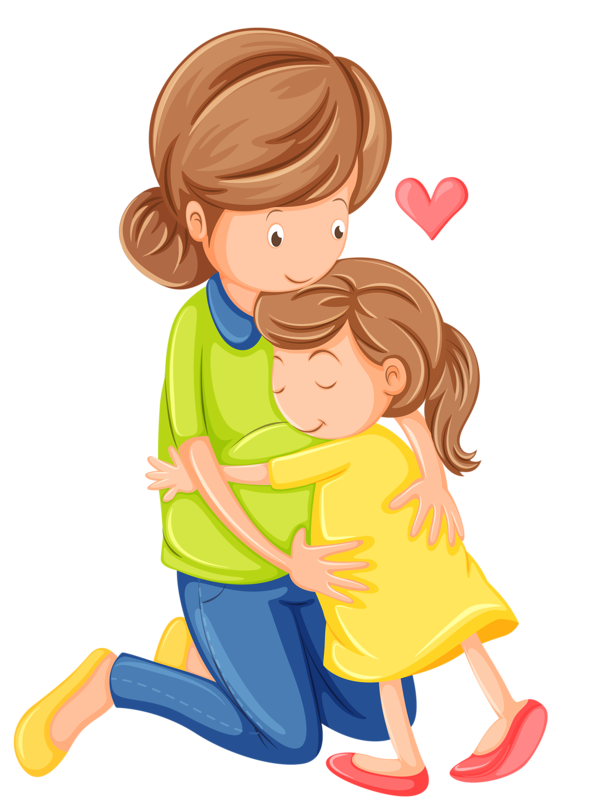 Hugging clipart mather. Mother and baby at