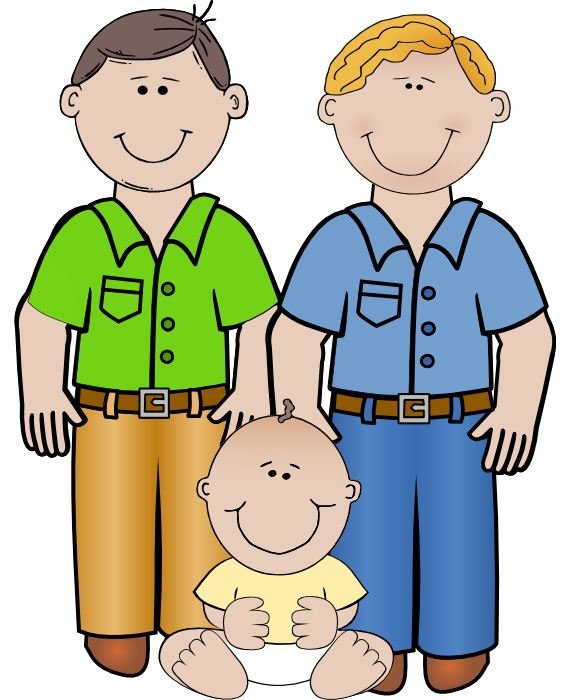 Dad clipart two. Mother and son at jpg library stock