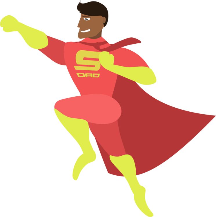 Father s day child. Mother clipart superhero picture stock
