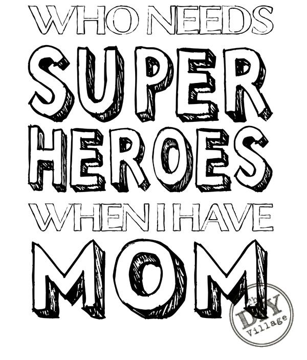free mothers clipart superhero
