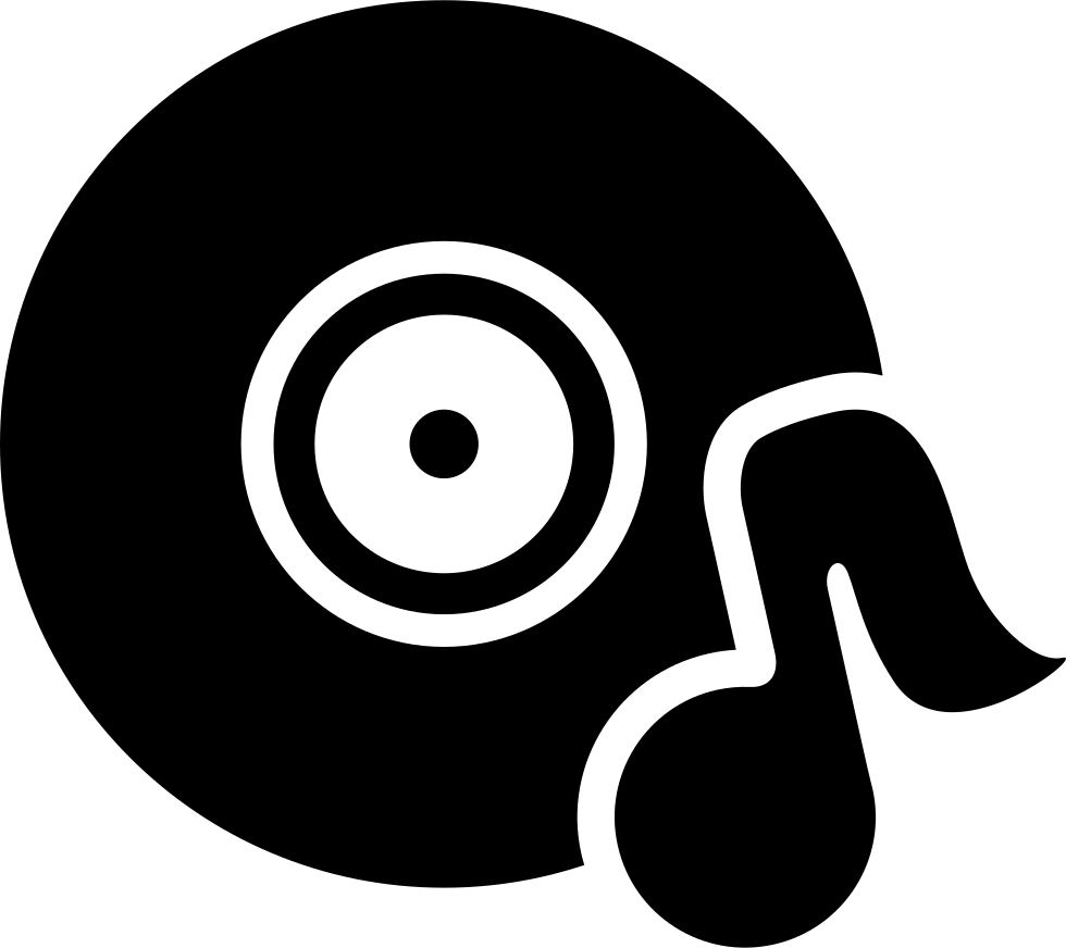 Free music note png. Disc with svg icon