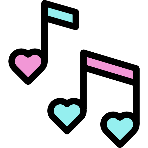 Heart music note png. Musical notes free icons
