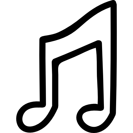 Free musical notes png. Note hand drawn outline
