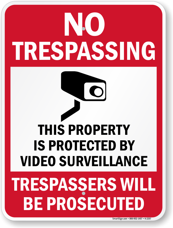 Free notice video survela nce png. Surveillance signs hour security