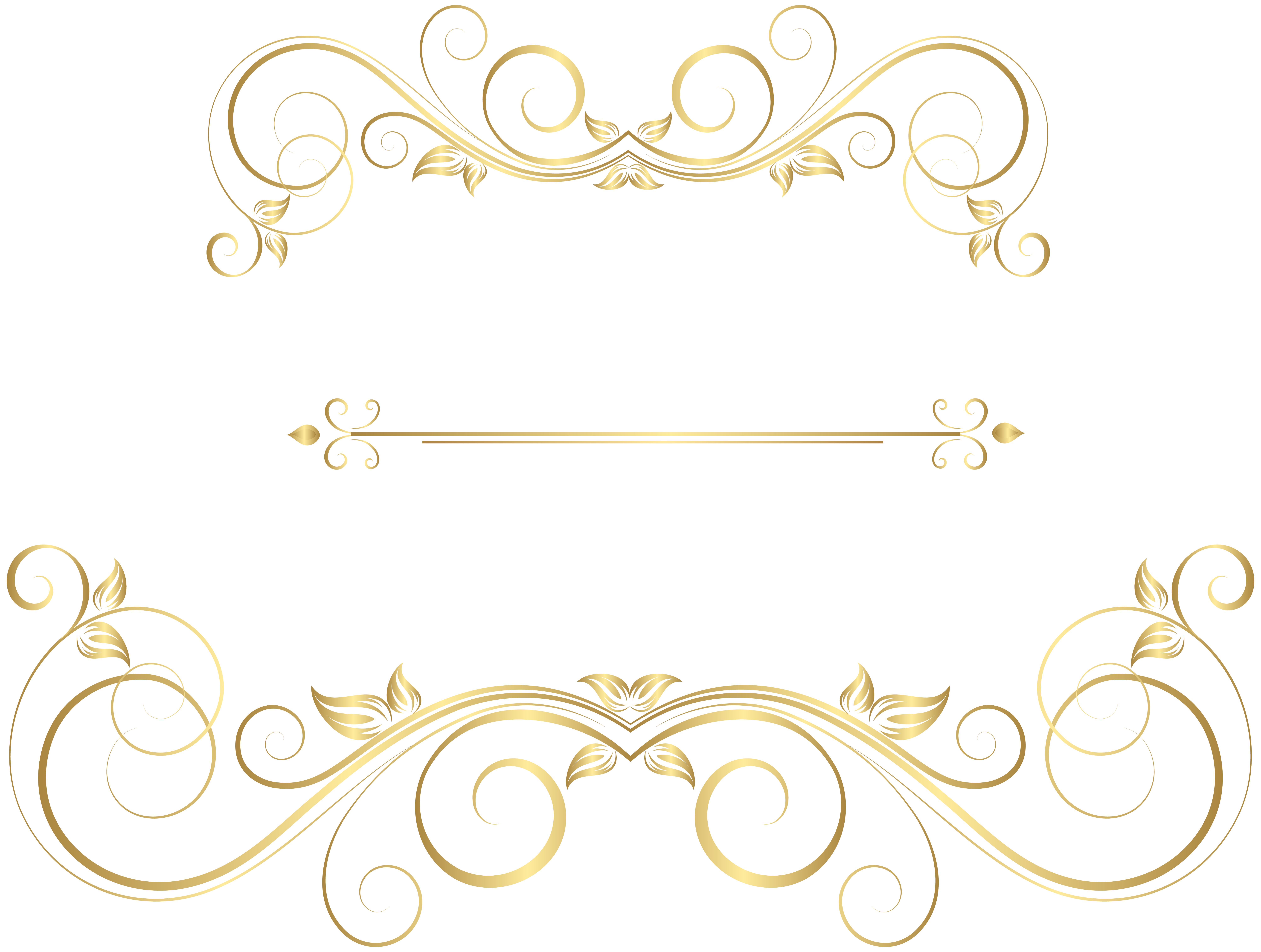 Decorative gold line png. Ornaments clip art image