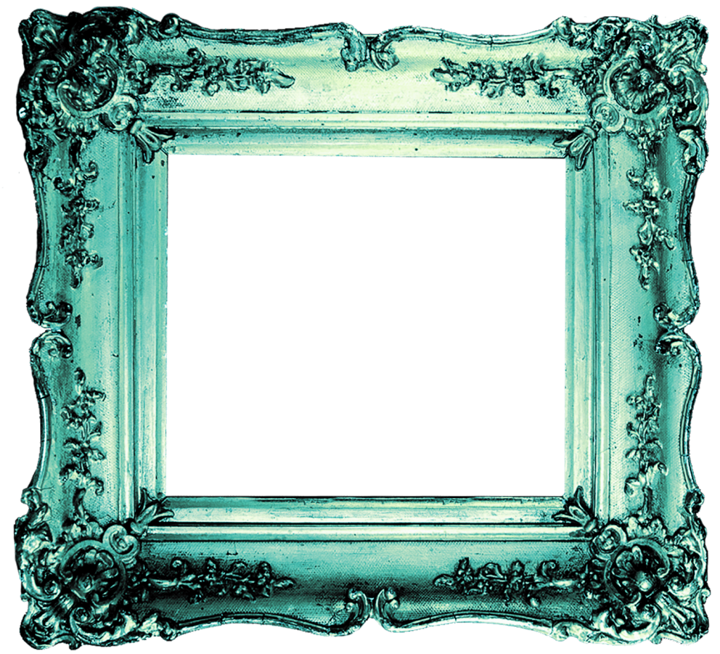Photo frames png free. Turquoise frame download vector