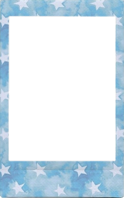 polaroid picture png blue