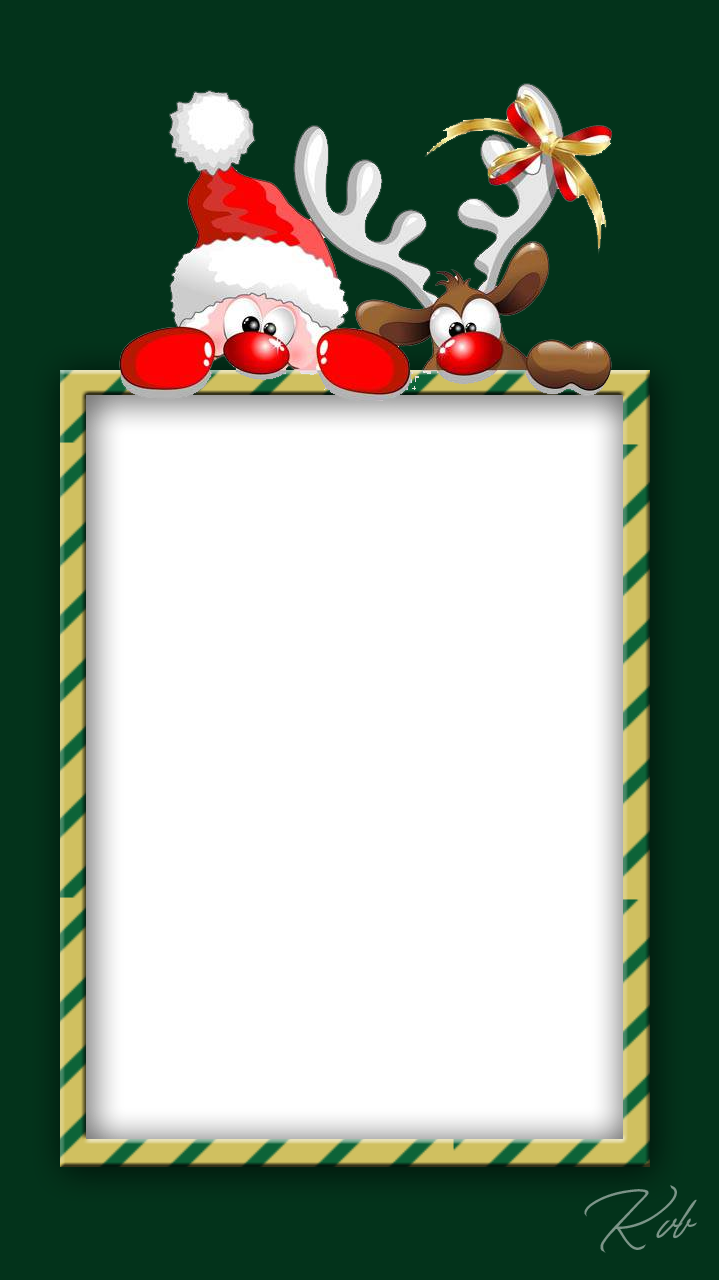 Free png christmas frames. Frame with santa and