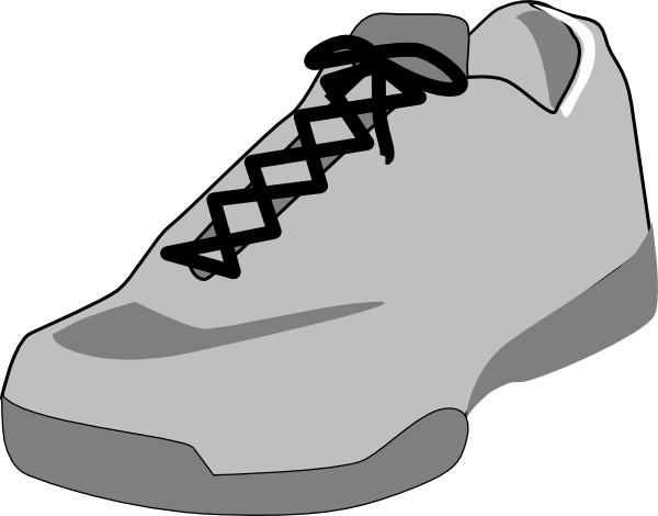 Free png clipart shoe black and white. Outline clip art at