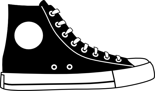 Footprint svg tennis shoe. Clip art black and