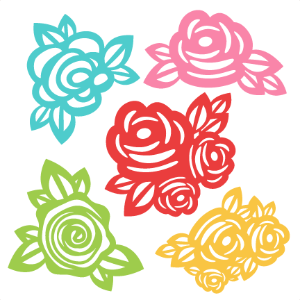 Svg design silhouette. Flowers scrapbook cut file