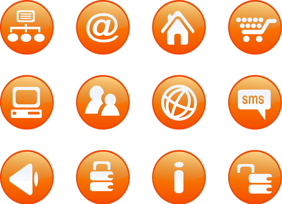 Freebannerdesign round orange glossy. Free png icons transparent background clip art royalty free download