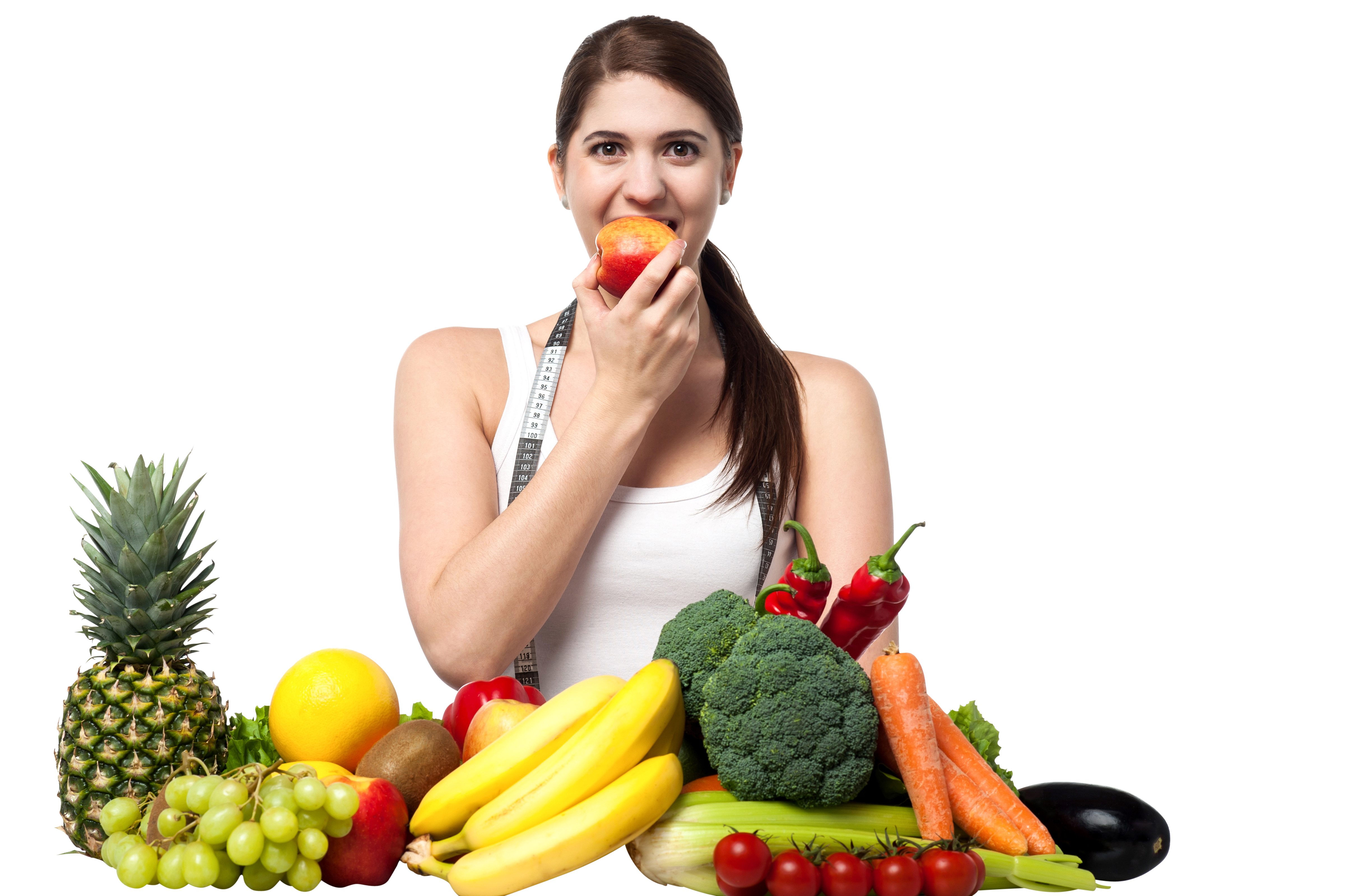 Free png images for commercial use. Girl with fruits play