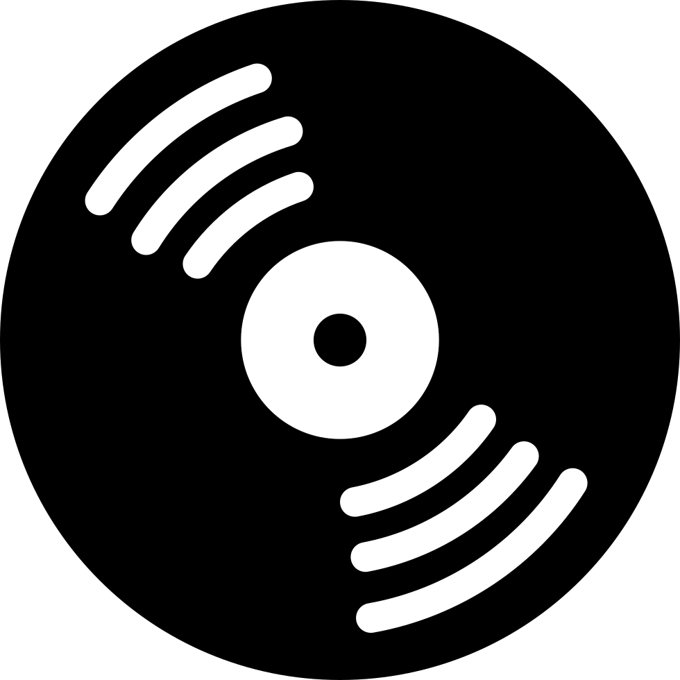 Free png music download sites. Disc with white details
