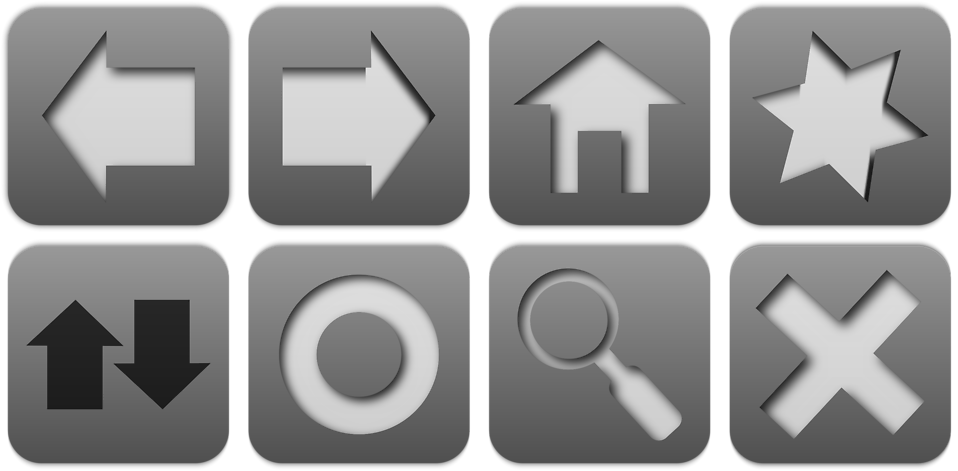 Free png navigation buttons. Icons stock photo a