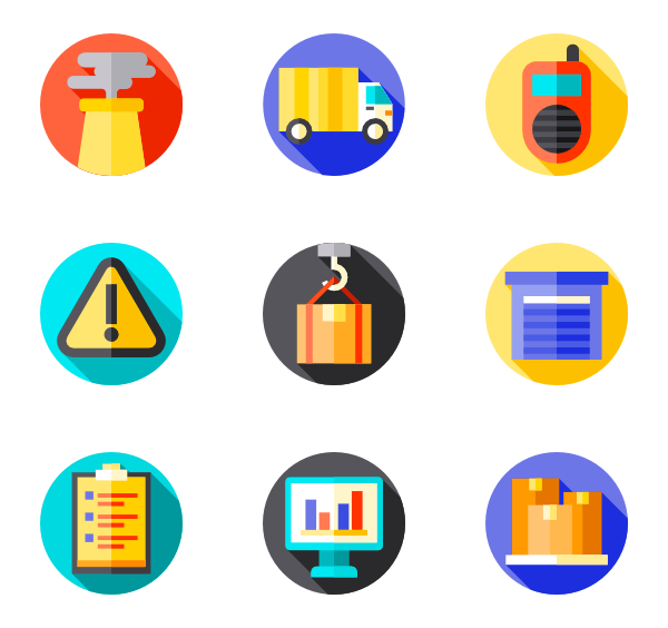 Social media icons free. Vector factory background picture free