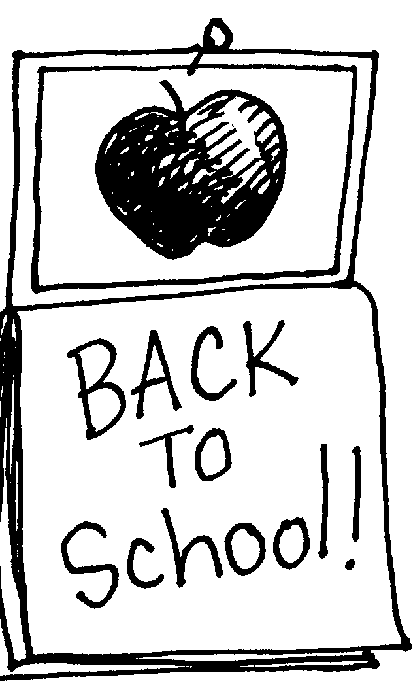 Free printable clipart back to school. Clip art get coloring