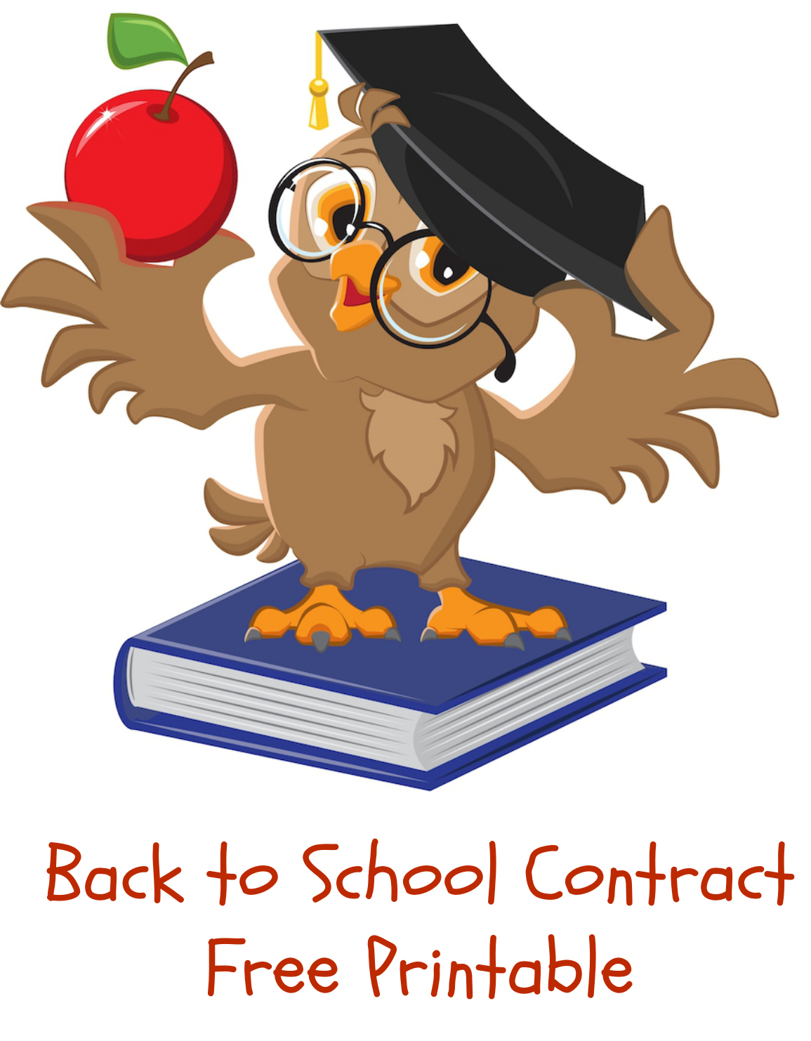 Free printable clipart back to school. Contract